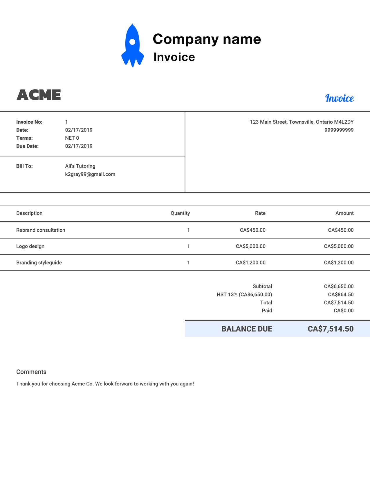 The Best Invoice Templates For The Uk 2020 Reviews