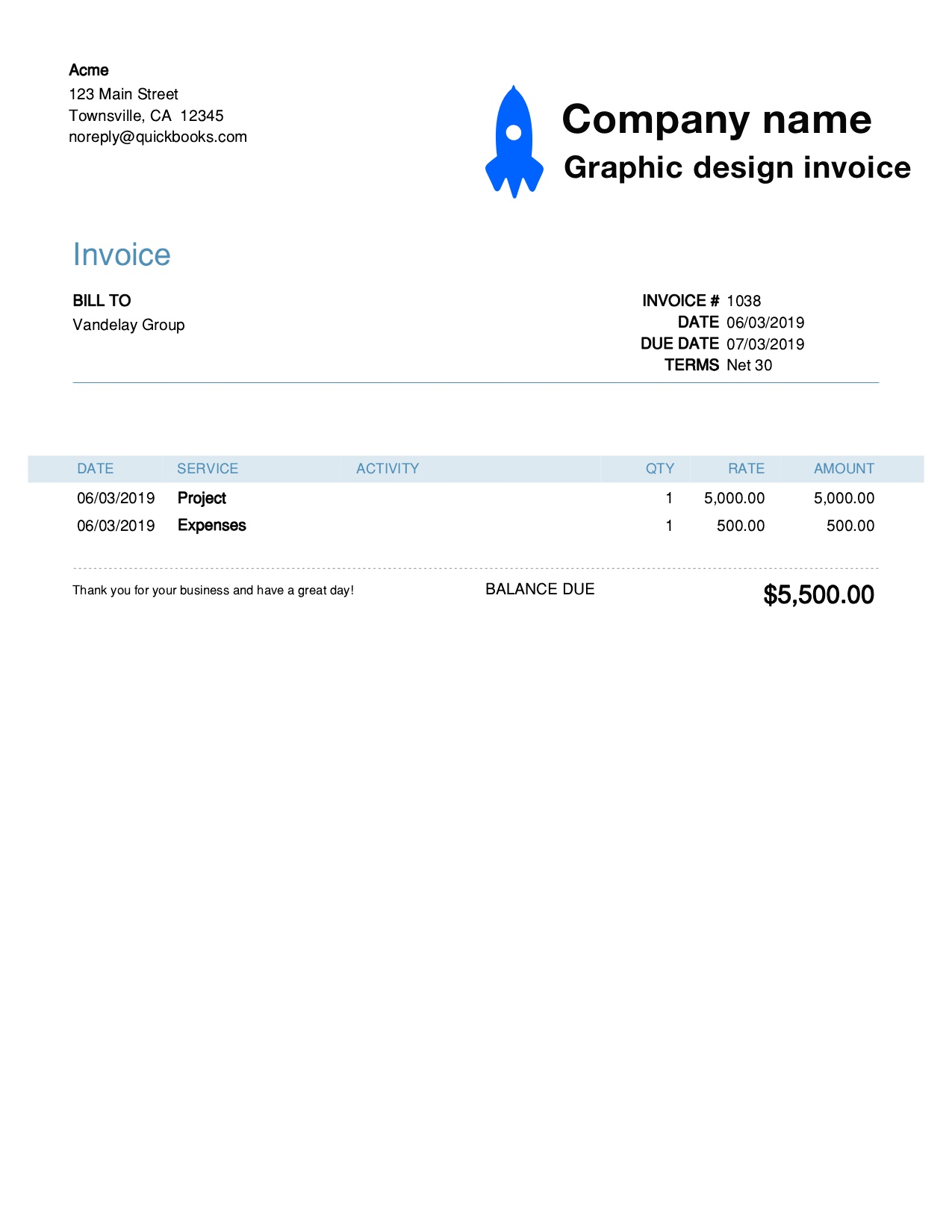 Graphic Design Invoice Template Customize And Send In 90