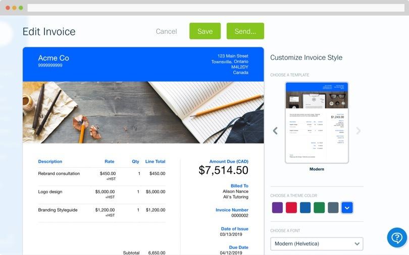 Free Invoice Templates Customize And Send In Under 90 Seconds